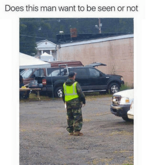 Man, All, and This Man: Does this man want to be seen or not All I see is a floating jacket….