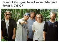 nsync: Doesn't Korn just look like an older and  fatter NSYNC?  AT