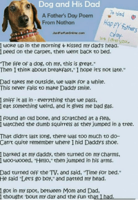 Dog And His Dad A Father S Day Poem Gag Happy Father From