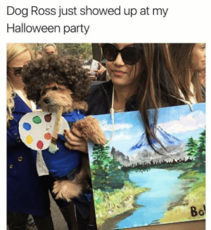 dopl3r.com - Memes - Dog Ross just showed up at my Halloween party Bo: Dog Ross just showed up at my  Halloween party  Bo dopl3r.com - Memes - Dog Ross just showed up at my Halloween party Bo