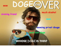 The DOGEover: DOGE COVER  WOW  much alcehol  missing frend  aveing privat douge  such lost dege  WHOSE DOGEIS THIS? The DOGEover