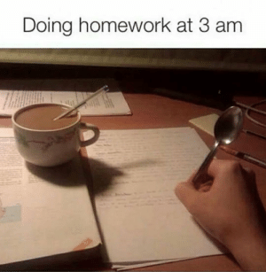 srsfunny:Sleep Is Only For The Weak: Doing homework at 3 am srsfunny:Sleep Is Only For The Weak