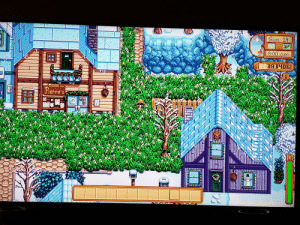 Doing tests before I completely fill my wife's game world with grass. It works in winter and will not disappear overnight. It took over 1500 pieces of grass starter (150k) to cover the inside of the doctor office, the seed store, the bar, and Alex's house. Also went to the front of jojo mart. Nice: Doing tests before I completely fill my wife's game world with grass. It works in winter and will not disappear overnight. It took over 1500 pieces of grass starter (150k) to cover the inside of the doctor office, the seed store, the bar, and Alex's house. Also went to the front of jojo mart. Nice