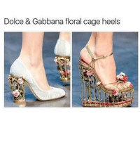 these are cute as hell but my fat ass would break them —sara: Dolce & Gabbana floral cage heels these are cute as hell but my fat ass would break them —sara