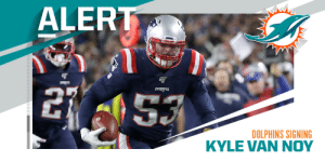 Dolphins signing LB Kyle Van Noy to four-year, $51M deal. (via @MikeGarafolo + @RapSheet) https://t.co/8BY8UGhM4M: Dolphins signing LB Kyle Van Noy to four-year, $51M deal. (via @MikeGarafolo + @RapSheet) https://t.co/8BY8UGhM4M