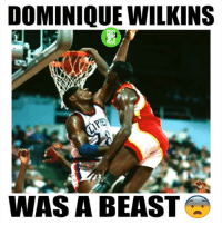 Dunk, Memes, and 🤖: DOMINIQUE WILKINS  RO  WAS A BEAST Those double pump dunks tho🔥
