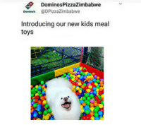 Kids, Toys, and New: DominosPizzaZimbabwe  Demines @DPizzaZimbabwe  Introducing our new kids meal  toys https://t.co/RS9hltXXYj