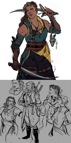 domirine:  attempt at some freshly baked ocs, my witcher ladies: domirine:  attempt at some freshly baked ocs, my witcher ladies