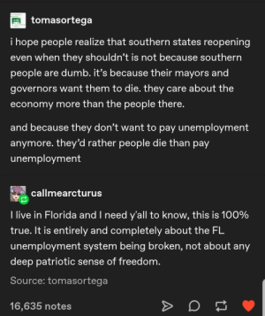 Don't have to pay unemployment if citizens are dead.: Don't have to pay unemployment if citizens are dead.