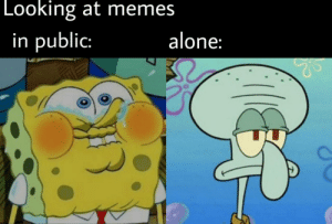 Don't post funny memes, if i'm in public: Don't post funny memes, if i'm in public