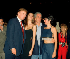 Donald and Melania Trump at a party with Jeffery Epstein and Ghislaine Maxwell in early 2000: Donald and Melania Trump at a party with Jeffery Epstein and Ghislaine Maxwell in early 2000