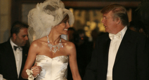 Donald and Melania Trump, shortly after their marriage in 2005: Donald and Melania Trump, shortly after their marriage in 2005