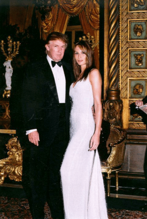 Donald and Melania Trump shortly after their wedding in 2005.: Donald and Melania Trump shortly after their wedding in 2005.
