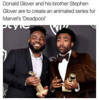 """Donald Glover, Memes, and Stephen: Donald Glover and his brother Stephen  Glover are to create an animated series for  Marvel's Deadpool"""""""