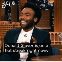 Blackpeopletwitter, Donald Glover, and Star Wars: Donald Glover is on a  hot streak right now Donald Glover is starring in Star Wars, Lion King, and bringing Deadpool to TV. Hottest streak in Hollywood. https://t.co/HuNcft04FD