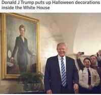 Halloween, Memes, and White House: Donald J Trump puts up Halloween decorations  inside the White House That sure is frightening