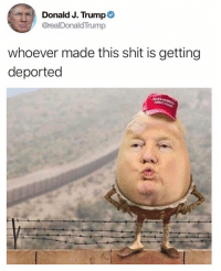 Funny, Meme, and Period: Donald J. Trump  @realDonaldTrump  whoever made this shit is getting  deported  XAT @drgrayfang is the meme king. Period. End sentence. Send.