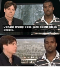 Shitgibbon: Donald Trump does care about black  people