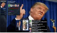 America, Guns, and Memes: Donald Trump  Donald J.Trump  the Catastrophical  Abilities  Tips  Classic  Super Trump  [Passive] A small loan:  Starts the game with 1 million dollars  [Q] Fire Power:  Brings the guns to the field  W) Racist Rage:  Gives bonus attack damage by %25 while  attacking other races  [E] Trump Wall:  Keeps others outside and makes you safe  E IRI The President:  HMakes the America great again! addition to s7, rito also released a new champ  = LeagueMemes =  Wingolos www.youtube.com/c/wingolos