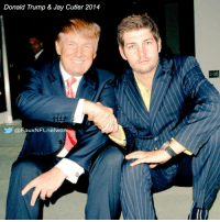 Photo surfaces of Donald Trump actually touching a pussy.: Donald Trump & Jay Cutler 2014  aux NFL networ Photo surfaces of Donald Trump actually touching a pussy.