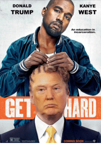 Y'all too damn quick. 😂: DONALD  TRUMP  KANYE  WEST  An education in  incarceration.  MARD  COMING SOON Y'all too damn quick. 😂