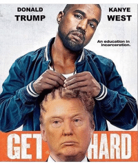 Y'all be playin too much!!! 😂😭💀 KanyeWest DonaldTrump WSHH: DONALD  TRUMP  KANYE  WEST  An education in  incarceration. Y'all be playin too much!!! 😂😭💀 KanyeWest DonaldTrump WSHH