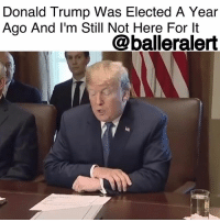 """America, Donald Trump, and Memes: Donald Trump Was Elected A Year  Ago And I'm Still Not Here For It  @balleralert Donald Trump Was Elected A Year Ago And I'm Still Not Here For It - blogged by @baetoven_ ⠀⠀⠀⠀⠀⠀⠀ ⠀⠀⠀⠀⠀⠀⠀ At this time last year, I woke up to realize DonaldTrump had been elected President of the UnitedStates. I watched the news for more than an hour recalculating electoral votes in complete disbelief. I still haven't really come to terms with it today. ⠀⠀⠀⠀⠀⠀⠀ ⠀⠀⠀⠀⠀⠀⠀ Over a year later, Trump has yet to fulfill many of the promises he made to America during his campaign. He promised to repeal Obamacare, build a wall along Mexico's border, ban Muslims from entering the United States, unite a divided country, and drop post-election. Instead he's usually (and aimlessly) criticizing BarackObama or """"Crooked Hillary"""" on Twitter, mocking autistic people or failing to hold white terrorists accountable for mass shootings. It would be an understatement to say Trump has had a disastrous year. ⠀⠀⠀⠀⠀⠀⠀ ⠀⠀⠀⠀⠀⠀⠀ Do you remember where you were or how you felt when Trump was elected?"""