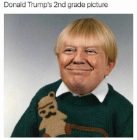 Donald Trump's 2nd grade picture @tindervsreality has the most moist memes on the internet