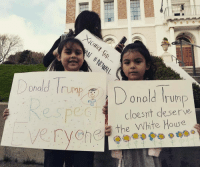 "💯💯💯""Donal Trump doesn't deserve the White House"" WokeBabies HeretoStay HeretoResist SouthCity PC: @annbassette 2-3-17: Donald UMP  Donald Trump  cloes it deserve  Cvehe, the White House 💯💯💯""Donal Trump doesn't deserve the White House"" WokeBabies HeretoStay HeretoResist SouthCity PC: @annbassette 2-3-17"