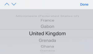 England, France, and Ghana: Done  Micronesia (Federated States of)  France  Gabon  United Kingdom  Grenada  Ghana  Gambia Was looking for the UK for ages. Looked for England, Britain, United Kingdom, and then finally found this when I looked for Great Britain......