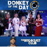 """Charlamagne, Donkey, and Girls: DONKEY  OF THE DAY  DAY  16:42  HN  THEBREAKEAST  BRALUESST Charlamagne gives """"Donkey Of The Day"""" to FifthHarmony fans for thinking he was starting drama between the girls...thoughts? 🤔 @BreakfastClubAM @CThaGod WSHH"""