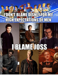 Memes, 🤖, and Blame: DON'T BLAME DISNEY FORMMY  HIGH-EXPECTATIONSORMEN  I BLAME JOSS I just remembered this existed, so I searched the page history to find it so I can repost it :D *Disclaimer - if your favorite character isn't there, sorry! I couldn't fit all of them. Feel free to comment who's missing! ~Rupti