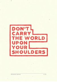 Beatles: DON'T  CARRY  THE WORLD  UPON  YOUR  SHOULDERS  THE BEATLES HYUD