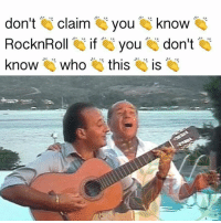 Memes, 🤖, and Who: don't  claim ou know  RocknRoll  if you  don't  know  who  this  IS -Trenta