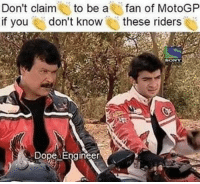 These are the real roadies! 😂😂: Don't claim to be a  fan of MotoGP  if you don't know  these riders  DOD These are the real roadies! 😂😂
