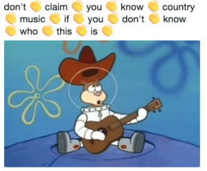 Music, Country Music, and Who: don't claim youknow country  music ifyou don'tknow  who thisis Yeehaw