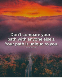 Club, Success, and You: Don't compare your  path with anyone else's.  Your path is unique to you.  The Success Club