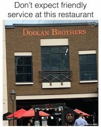Memes, Restaurant, and 🤖: Don't expect friendly  service at this restaurant  BoOLAN BROTHERS  its to JWSG Hahaha only Singaporeans will get this!