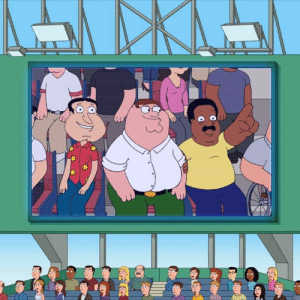 Dank, Family, and Family Guy: Don't forget to hit the concession stand before first pitch.  Happy Opening Day from Family Guy!