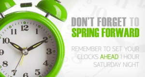 Memes, Spring, and 🤖: DON'T FORGET TO  SPRING FORWARD  12  REMEMBER TO SET YOUR  CLOCKS AHEAD 1 HOUR  SATURDAY NIGHT  3  8  5 <3