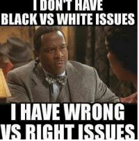 Memes, Black, and White: DONT HAVE  BLACK VS WHITE ISSUES  I HAVE WRONG  SRIHHTISSUES