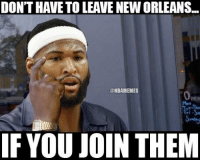 DeMarcus Cousins thinking at All-Star Weekend. LIKE Pelicans Nation!: DON'T HAVE TO LEAVE NEWORLEANS...  @NBAMEMES  IF YOU JOIN THEM DeMarcus Cousins thinking at All-Star Weekend. LIKE Pelicans Nation!