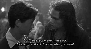 https://iglovequotes.net/: Don't let anyone ever make you  feel like you don't deserve what you want. https://iglovequotes.net/