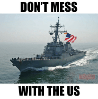 A U.S. Navy destroyer fired warning shots Sunday after a group of Revolutionary Guard boats approached it in the Strait of Hormuz. The Iranian boats refused to change course despite radio calls, flares and smoke bombs. The Iranian boats came within 900 yards of the Mahan, but other recent encounters with Revolutionary Guard boats have been much closer. Last August there were two incidents within a week. In the first incident four Revolutionary Guard boats came within 300 yards of the USS Nitze, a guided-missile destroyer. A few days later Iranian boats came within 200 yards of the USS Squall. The Squall fired three warning shots into the water and the boats finally left the area. The US Navy begins to behave much more confident for the simple reason that an era of Trump, who will not forgive abuse of the US Military, is coming. Almost a year ago, the Iranian military humiliated American sailors in front the cameras of the entire world. Barack Obama did not respond to this humiliation. Trump will defend the US interests much more consistently and will not allow the enemy to show disrespect for the American Armed Forces. veteranscomefirst veterans_us Veterans Usveterans veteransUSA SupportVeterans Politics USA America Patriots Gratitude HonorVets thankvets supportourtroops semperfi USMC USCG USAF Navy Army military godblessourmilitary soldier holdthegovernmentaccountable RememberEveryoneDeployed Usflag StarsandStripes: DON'T MESS  WITH THE US A U.S. Navy destroyer fired warning shots Sunday after a group of Revolutionary Guard boats approached it in the Strait of Hormuz. The Iranian boats refused to change course despite radio calls, flares and smoke bombs. The Iranian boats came within 900 yards of the Mahan, but other recent encounters with Revolutionary Guard boats have been much closer. Last August there were two incidents within a week. In the first incident four Revolutionary Guard boats came within 300 yards of the USS Nitze, a guided-missile destroyer. A few d