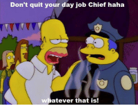 """Memes, Chiefs, and Quite: Don't quit your day job Chief haha  ver that is!  at (""""El Viaje Misterioso de Nuestro Jomer (The Mysterious Voyage of Homer)"""" S8E9)"""