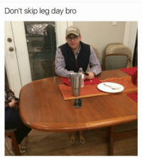 Funny, Leg Day, and Day: Don't skip leg day bro