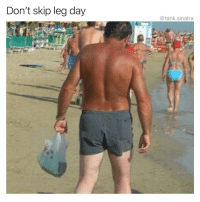 Funny, Leg Day, and Farming: Don't skip leg day  @tank.sinatra What kinda shirtless farming is this guy doing
