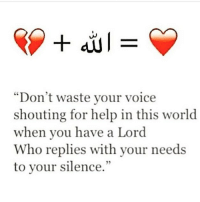 """Goals, Life, and Memes: """"Don't waste your voice  shouting for help in this world  when you have a Lord  Who replies with your needs  to your silence.""""  5 Let me tell you something, anything is possible, wallahi by Allah anything is possible as long as you seek the aid of Allah sincerely. No matter what situation you may be in and it may seem like all the doors have been closed for you, just remember that Allah is al Fattah, he is the one who open doors, doors you didn't even know existed. . - So by Allah I promise you, whatever goals you have in life, anything is possible with the help of Allah. . - Allah will answer your Adi'yah, he will respond and this is his promise. Allah answered the Dua'a of a Mushrik who called out to him in absolute desperation. You think Allah will not answer your Dua'a Oh my brothers & sisters ? Wallahi he will. He will.. ▃▃▃▃▃▃▃▃▃▃▃▃▃▃▃▃▃▃▃▃ @abed.alii 📝"""