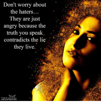 Memes, Angry, and Contradiction: Don't worry about  the haters  They are just  angry because the  truth you speak  contradicts the lie  they live  Living the  LAW of ATTRACTION <3