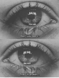 You, Broken, and  See: Don't you see it?  broken